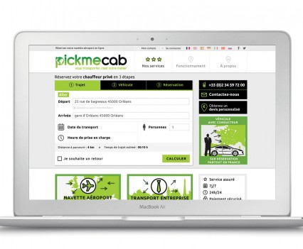 PickmeCab Site internet